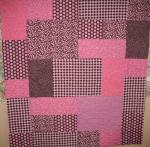 Beverly's Pink and Brown Quilt