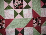 Rochelle's Pink Floral Quilt