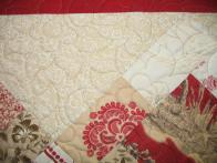 Rochelle's Red Floral Quilt