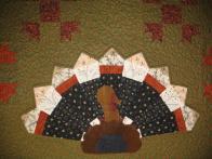 Virginia's Turkey Applique Table Topper