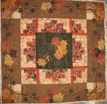 Barbara's Fall Applique Quilt
