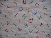 Judy's Alphabet Baby Quilt