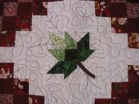 Bigwei's  Maple Leaf Irish Chain Quilt