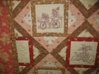 Sherri's Bicycle Stitchery Quilt