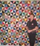 Betty's Half Square Triangle Quilt