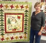 Angela's Vintage Santa Quilt